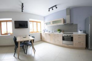 Apartma Bike - kuhinja in jedilnica